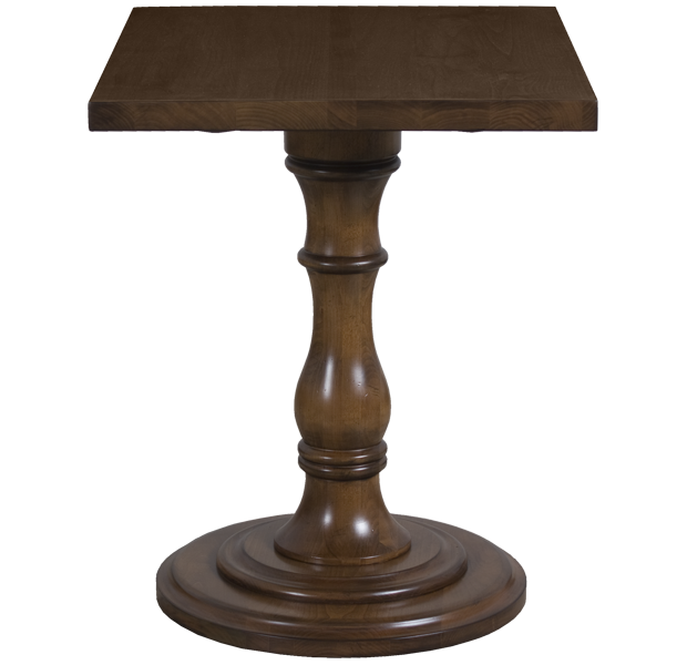 Lorts 3228 Lamp Table finished in Chestnut