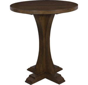 Lorts 3319 Bar Height Bistro Table finished in Chestnut