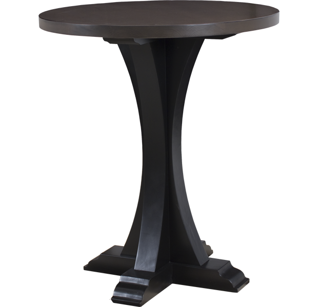 Lorts 3319 Bar Height Bistro Table finished in Mink and Onyx