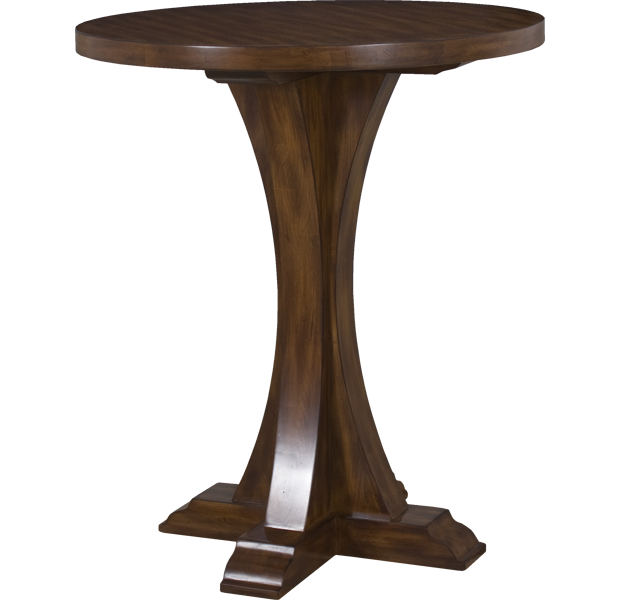 Lorts 3319 Bar Height Bistro Table finished in Pecan