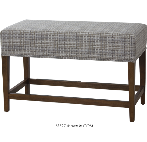 Lorts 3527 Backless Counter Height Bench finished in Fruitwood