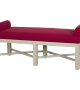 Lorts 3581 Bench finished in Cream Mist and upholstered in Customer's Own Material