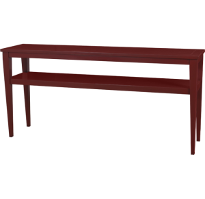 Lorts 3688 Tapered Leg Console Table finished in Jewel Red
