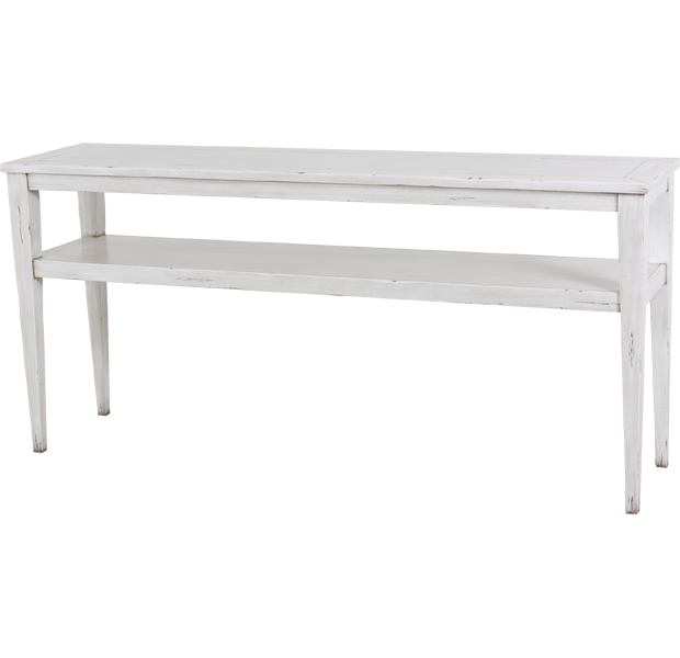 Lorts 3688 Tapered Leg Console Table finished in Marble
