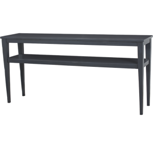 Lorts 3688 Tapered Leg Console Table finished in Steel