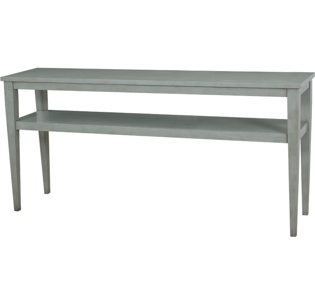 Lorts 3688 Tapered Leg Console Table finished in Powder Blue