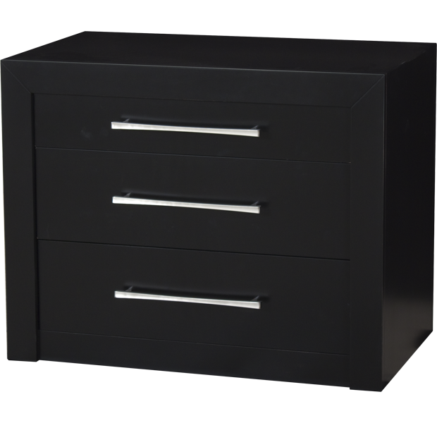 LORTS 4287 NIGHTSTAND FINISHED IN ONYX WITH H32 HARDWARE