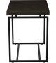Lorts 527 Lamp Table finished in Topaz with metal base finished in Oyx