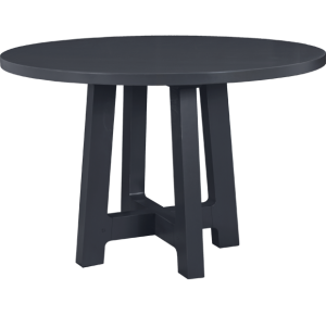 Lorts 8613 Counter Height Dining Table Base finished in Steel