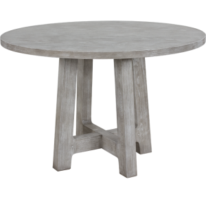 Lorts 8613 Counter Height Dining Table Base finished in Nantucket, Wire Brush Finish