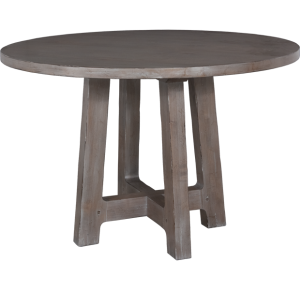 Lorts 8613 Counter Height Dining Table Base finished in Greystone