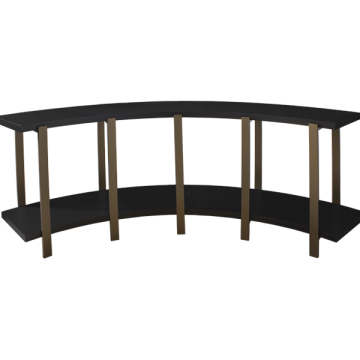 Custom Curved Console Table