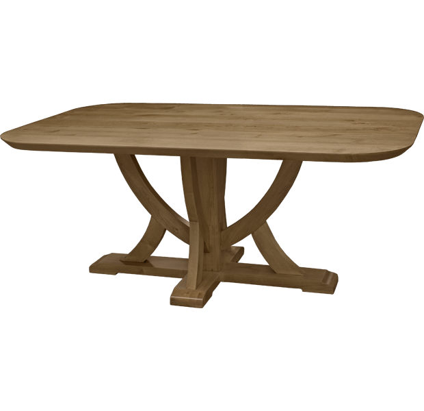 Lorts 2239 Urn Table Base Dining Table finished in Natural