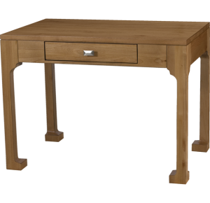 Lorts Custom Sized 1295 Chow Leg Desk measuring W40 D26 H30 finished in Nutmeg with H38 hardware