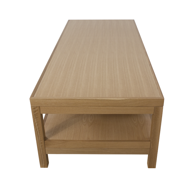 Lorts Custom Spa Reesting Bed measuring W73 x D30 x H21 made from white oak