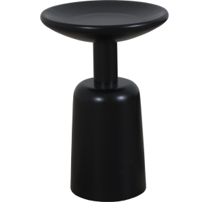 Lorts Custom Round Side Table measuring W16 x D 16 x H24 finished in Onyx