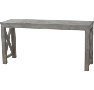 Lorts Custom Sized 3239 Console Table measuring W61 x D 18 x H30 finished in Nantucket (Wire Brsh Finish)