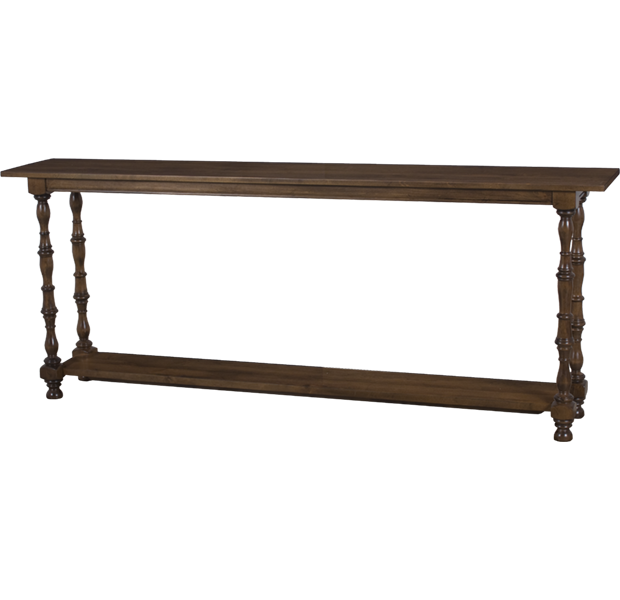 Lorts Custom Sized 7686 Console Table measuring W80 D14 H32 finished in Chestnut