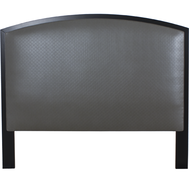 Lorts 4227 California King Headboard Only finished in Onyx in COM with Single Welt.