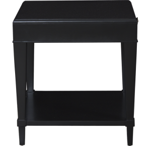 Lorts Custom Square End Table finished in Onyx