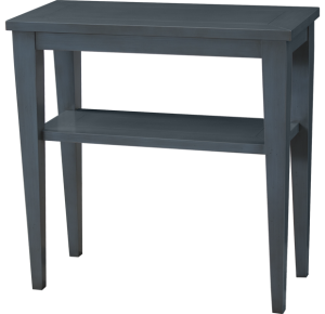 Lorts Custom Sized 3673 Tapered Leg Side Table finished in Sky Blue