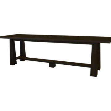 Custom Counter Height Communal Table with Casters